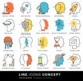 Brain Mind Icons Set