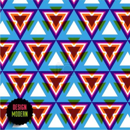 Colorful Seamless Geometric Mosaic.