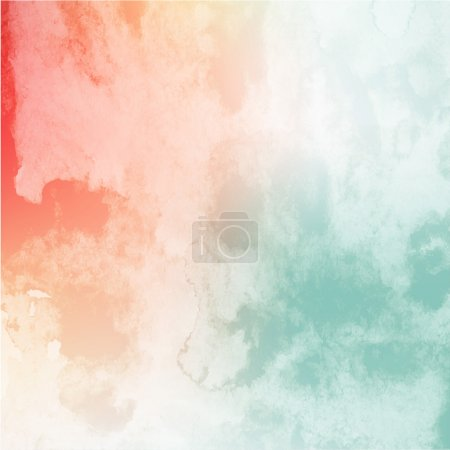 Illustration for Soft colored abstract background for design. Colorful watercolor texture effect. Vector. - Royalty Free Image