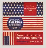 American Flag Banners Set