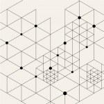 Vector Modern Black Techno Geometric Pattern Backg...