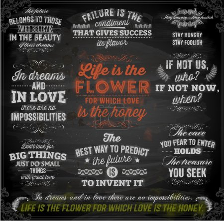Set of Quotes Typographical Posters,