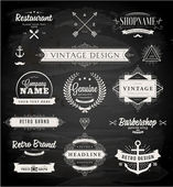 Set of Retro Vintage Insignias and Logotypes
