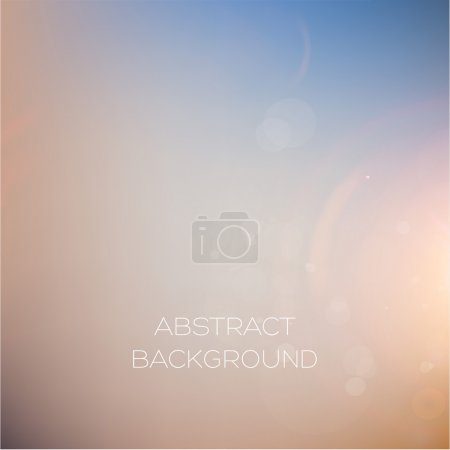 Illustration for Soft Colorful Abstract Blurred Vector Background for Design - Royalty Free Image