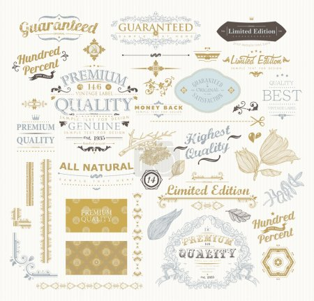 Vintage Design Label Elements Collection