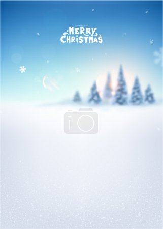 Blurred Winter Background.