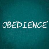 Poslušnost, napsané na tabuli