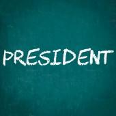 Prezident, napsané na tabuli