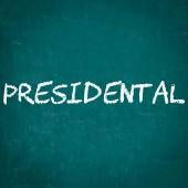Presidentský napsané na tabuli