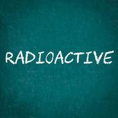 Radioaktivní napsané na tabuli