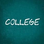 Vysoká škola napsané na tabuli