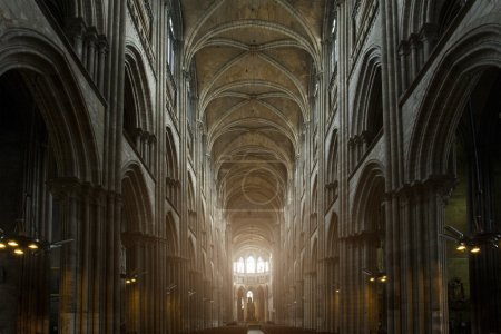 Interior of Notre-Dame de Reims cathedral (Our Lady of Reims, 1275)