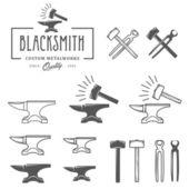 Vintage blacksmith design elements