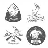 Set of vintage outdoors labels badges and design elements