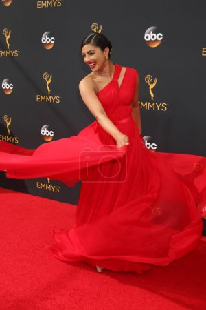 Photo for Priyanka Chopra actress at the 68th Annual Primetime Emmy Awards Arrivals, Microsoft Theater, Los Angeles, CA 09-18-16 - Royalty Free Image