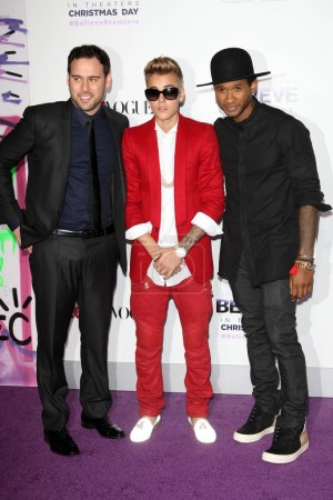 Scooter Braun, Justin Bieber, Usher