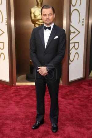 Foto de Leonardo DiCaprio en los 86º Premios Anuales de la Academia - Llegadas, Teatro Dolby, Hollywood, CA 03-02-14 - Imagen libre de derechos