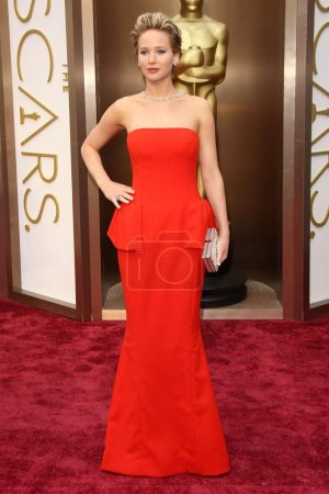 Photo for Jennifer Lawrence at the 86th Annual Academy Awards - Arrivals, Dolby Theatre, Hollywood, CA 03-02-14 - Royalty Free Image