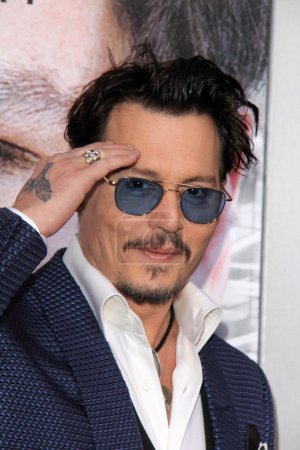 """Photo for Johnny Depp at the """"Transcendence"""" Los Angeles Premiere, Village Theatre, Westwood, CA 04-10-14 - Royalty Free Image"""