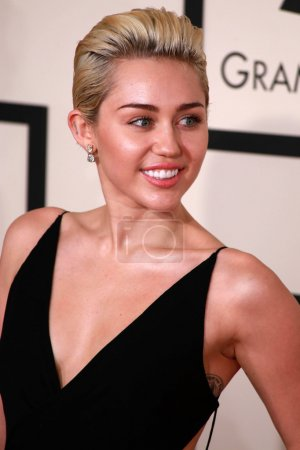 Miley Cyrus at the 57th Annual Grammy Awards, Stap...