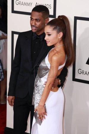 Foto de Big Sean, Ariana Grande at the 57th Annual Grammy Awards, Staples Center, Los Angeles, CA 02-08-15 - Imagen libre de derechos