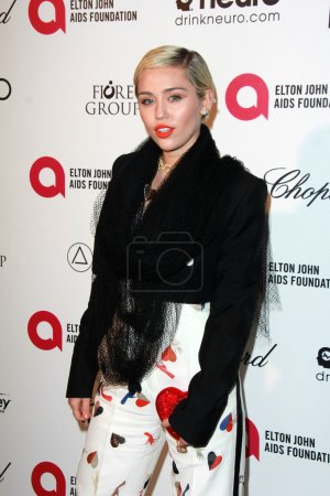 Photo for Miley Cyrus at the 23rd Annual Elton John Academy Awards Viewing Party, City of West Hollywood Park, West Hollywood, CA 02-22-15 - Royalty Free Image