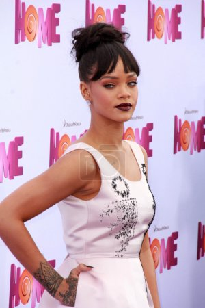 """Photo for Rihanna at the """"Home"""" Special Screening Red Carpet, Village Theater, Westwood, CA 03-22-15 - Royalty Free Image"""