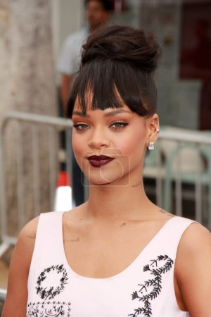 "Photo for Rihanna at the ""Home"" Special Screening Red Carpet, Village Theater, Westwood, CA 03-22-15 - Royalty Free Image"