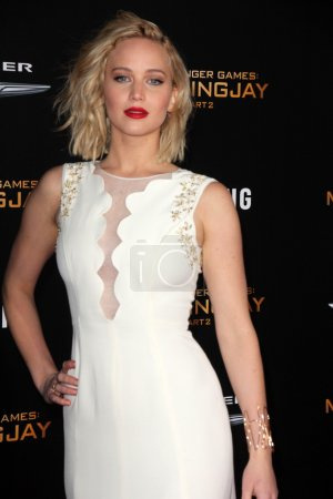 """Photo for Jennifer Lawrence at """"The Hunger Games: Mockingjay Part II"""" Los Angeles Premiere, Microsoft Theater, Los Angeles, CA 11-16-15 - Royalty Free Image"""