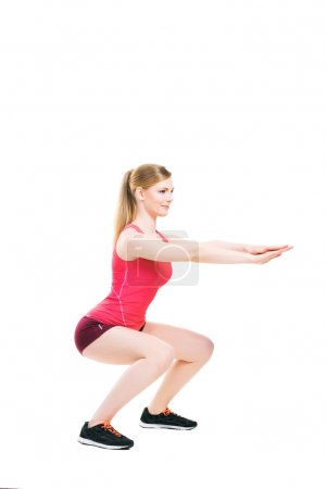 Fit, healthy and sporty woman doing an exercise