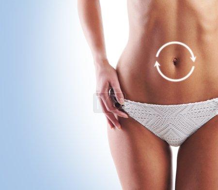 Healthy woman body