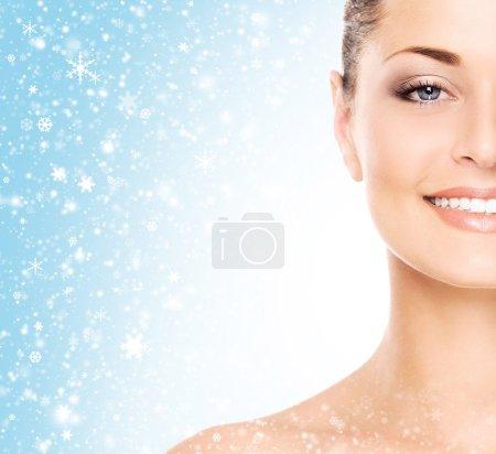 Healthy  woman skin