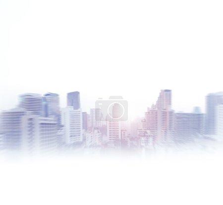 Foto de Bangkok centro de negocios ver imagen de fondo. Imagen aislada en blanco . - Imagen libre de derechos