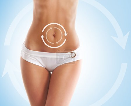 Liposuction and cellulite removal concept