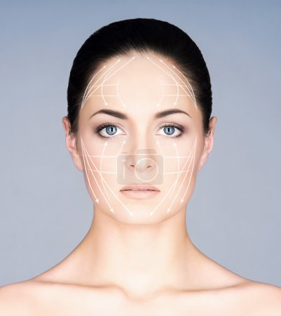Beautiful woman plastic surgery
