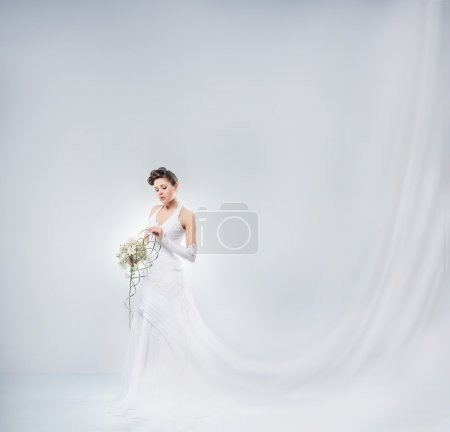 Young and beautiful bride