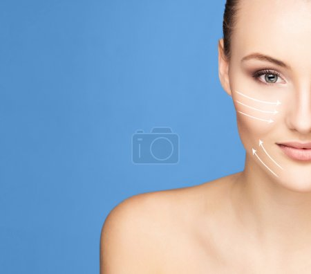 woman ready for plastic surgery treatment