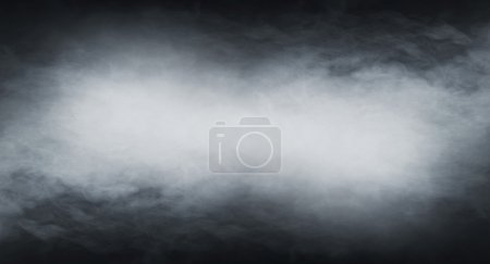 Smoke  over black background