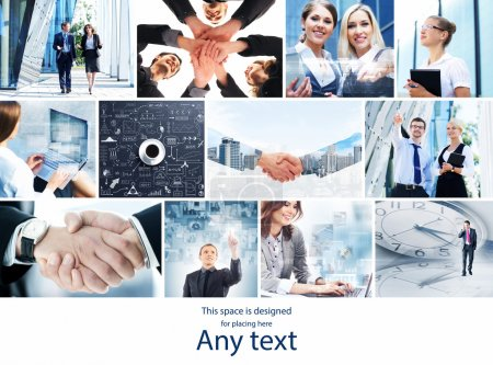 Collection of photos about business