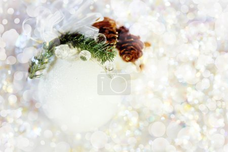 Christmas Decoration with White Bauble
