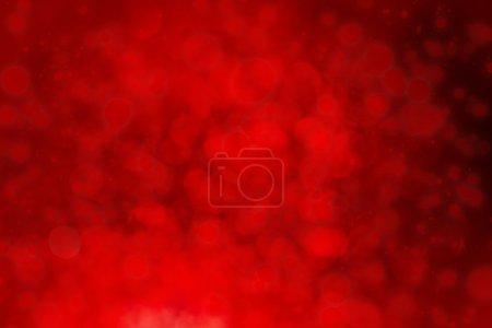 Photo pour Fond rouge vif de lumières défocalisées avec des lumières bokeh - image libre de droit