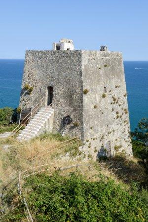Old watchtower near Peschici on Puglia