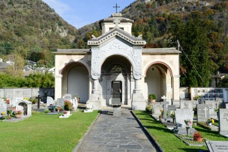 The cemetery of San Fedele at Verscio