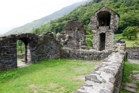 Ruins of Serravalle castle at Semione