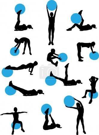 Woman pilates workout