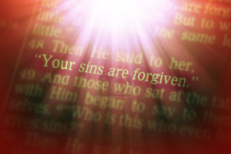 Bible text - YOUR SINS ARE FORGIVEN