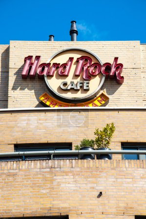 Hard Rock Cafe signage on