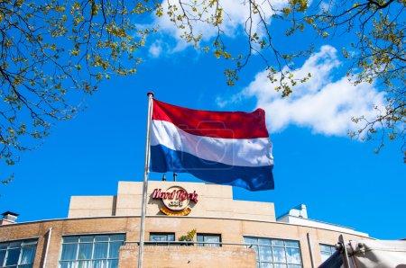 AMSTERDAMAPRIL 30 Holland flag and