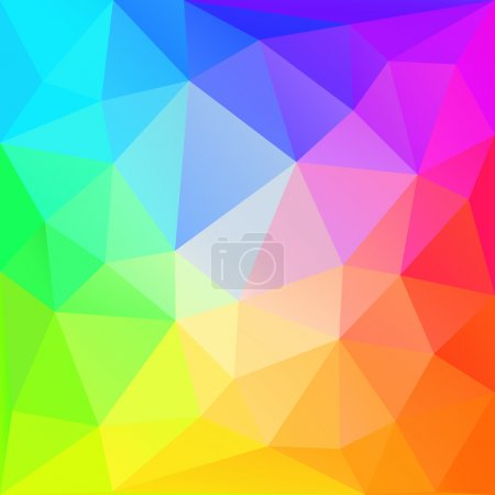 Illustration for Rainbow polygonal  background. Vector EPS10. - Royalty Free Image