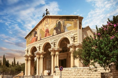 Photo for Church of All Nations in garden of Gethsemane, Jerusalem, Israel - Royalty Free Image
